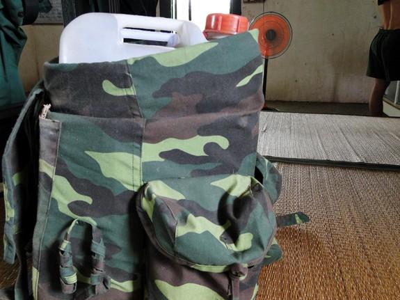 Trường Sĩ quan Lục quân 2: Tiện lợi từ can đựng cát hành quân dã ngoại - Ảnh 1.