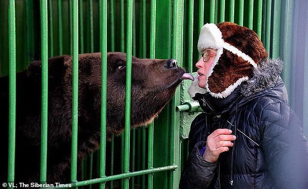 Nổi tiếng với khả năng có thể tương tác và hôn gấu ở vườn thú, người phụ nữ bị chính con vật này tấn công đến mất một chân - Ảnh 1.