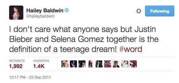 1 thập kỷ đã biến Hailey Baldwin từ fan cuồng ship Jelena thành cô dâu nắm tay Justin Bieber vào lễ đường như thế nào? - Ảnh 1.
