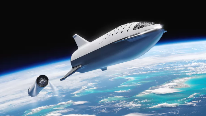 Elon Musk ra mắt hệ thống tên lửa Starship mới: Mạnh gấp đôi hệ thống phóng Saturn 5 huyền thoại, khoang chứa được 100 người, có thể tự động đáp đất - Ảnh 2.