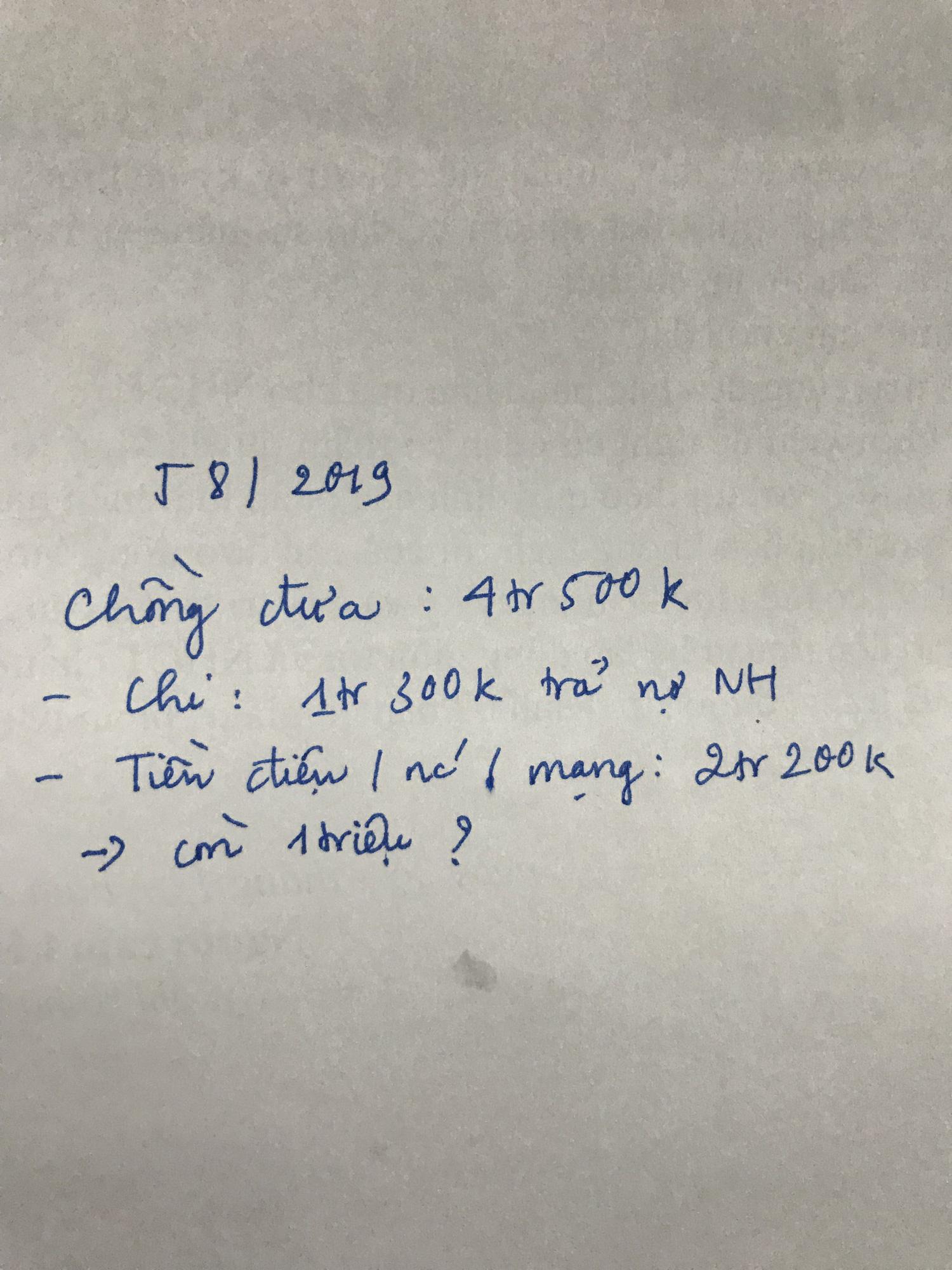 VZN News: Chồng đầu tháng đưa vợ 4,5 triệu, cuối tháng lại đòi 1 triệu, bảng kê khai từng khoản khiến tất cả ngao ngán - Ảnh 2.