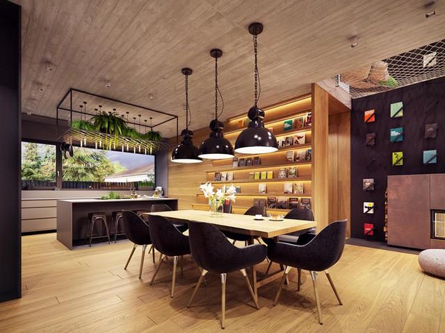 Tham khảo cách thiết kế phòng ăn đơn giản, mộc mạc và tinh tế - Ảnh 1.
