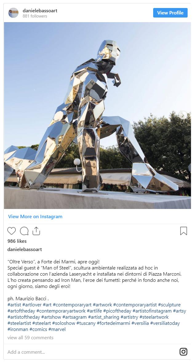 Xuất hiện một bức tượng kim loại để tưởng nhớ Iron Man tại Ý - Ảnh 1.
