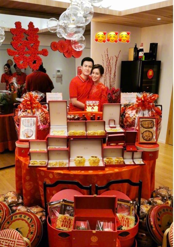 Người đẹp từng khiến Tạ Đình Phong và Trần Quán Hy tranh giành, xuất hiện lộng lẫy trong lễ đăng ký kết hôn cùng bạn trai thiếu gia giàu có 3 đời  - Ảnh 4.