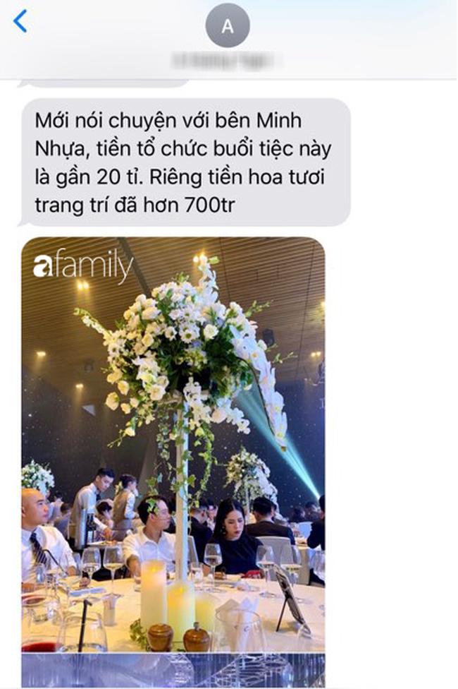 Tiết lộ kinh phí tổ chức tiệc cưới con gái Minh Nhựa đã lên tới 20 tỷ đồng, riêng tiền hoa trang trí đã là 700 triệu! - Ảnh 6.