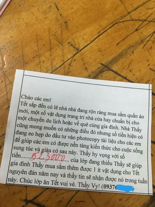 Tết đến mà học trò chưa chịu trả tiền photo, thầy giáo đưa ra tối hậu thư hài hước khiến ai đọc cũng phải chột dạ trả tiền ngay - Ảnh 1.