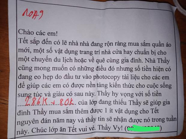 Tết đến mà học trò chưa chịu trả tiền photo, thầy giáo đưa ra tối hậu thư hài hước khiến ai đọc cũng phải chột dạ trả tiền ngay - Ảnh 3.