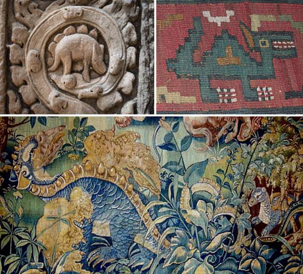 Những mô tả về các sinh vật có ngoại hình khá giống khủng long của các nền văn hóa cổ đại.
