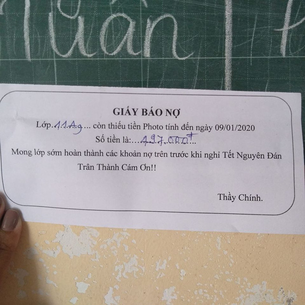 Tết đến mà học trò chưa chịu trả tiền photo, thầy giáo đưa ra tối hậu thư hài hước khiến ai đọc cũng phải chột dạ trả tiền ngay - Ảnh 5.