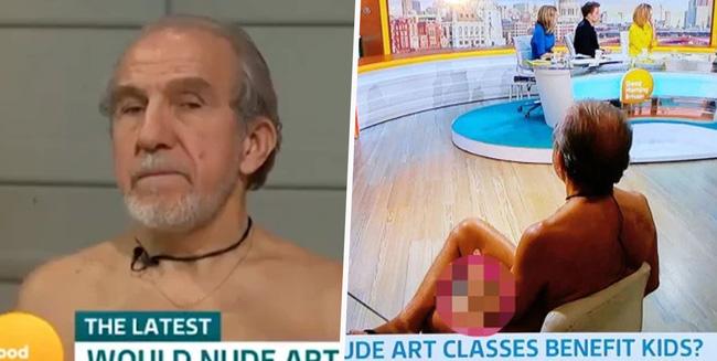 Kênh truyền hình Anh gây bức xúc vì đưa người mẫu khỏa thân lên TV dù họa sĩ chỉ vẽ mỗi cái mặt - Ảnh 1.