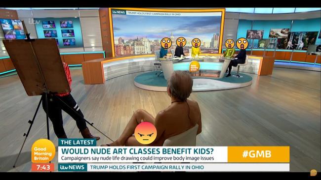 Kênh truyền hình Anh gây bức xúc vì đưa người mẫu khỏa thân lên TV dù họa sĩ chỉ vẽ mỗi cái mặt - Ảnh 3.