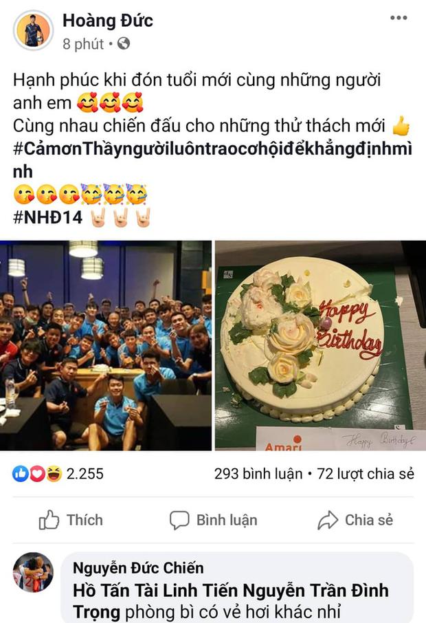HLV Park Hang-seo viết lời chúc bằng tiếng Việt cho Hoàng Đức nhân ngày sinh nhật, đồng đội thắc mắc: Phong bì hơi khác thì phải - Ảnh 1.