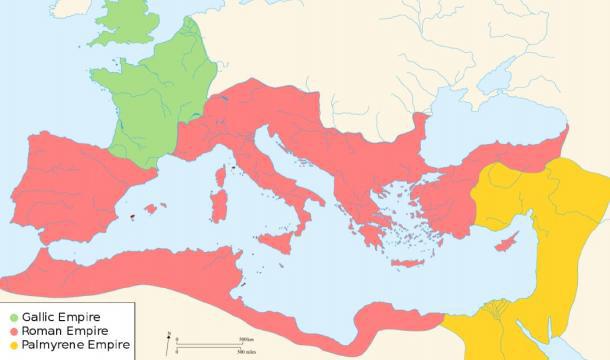 Đế quốc La Mã đã chia thành ba phe. (Ảnh: Internet )