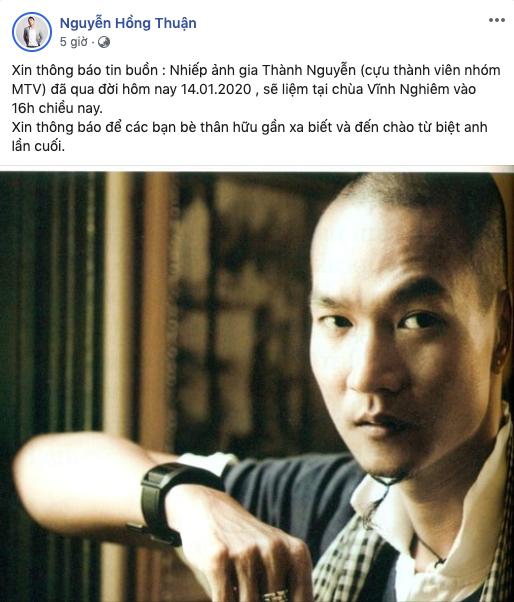 Hàng loạt sao Việt bàng hoàng khi nghe tin cựu thành viên nhóm MTV qua đời ở tuổi 49 - Ảnh 1.