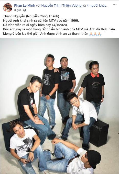 Hàng loạt sao Việt bàng hoàng khi nghe tin cựu thành viên nhóm MTV qua đời ở tuổi 49 - Ảnh 2.
