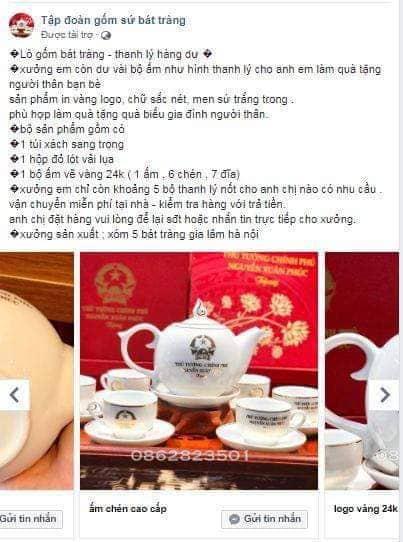 Phạt doanh nghiệp gốm sứ ở Bát Tràng in tên Chủ tịch nước, Thủ tướng trên sản phẩm - Ảnh 1.