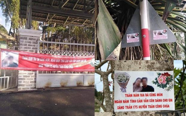 Thanh niên in 60kg banner ảnh và thơ tình dán khắp Đà Lạt để níu kéo bồ cũ: Chả hiểu sao họ nói mình hèn! - ảnh 1