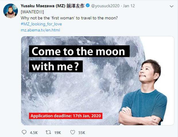 Tỷ phú Nhật thông báo tuyển người cùng du hành Mặt Trăng, 20000 cô gái trẻ đẹp độc thân lập tức ứng tuyển xin làm...vợ - Ảnh 1.
