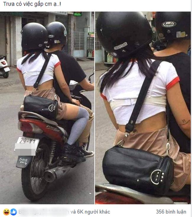 Cô gái diện áo phông kín đáo nhưng vẫn khiến người đi đường hú hồn vì gu thời trang độc lạ thế này - Ảnh 1.