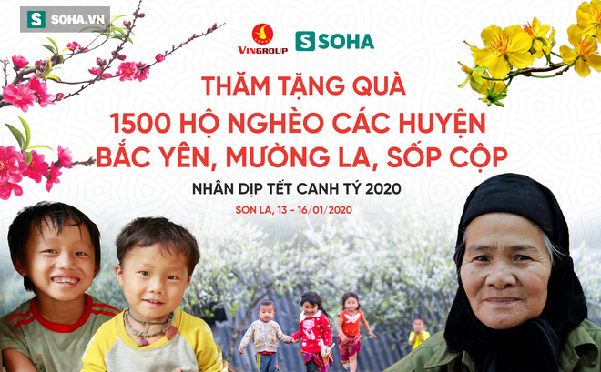 1.500 suất quà Tết tỏa hương thơm thảo cùng hoa đào, hoa mận tại 6 xã đặc biệt khó khăn của Sơn La
