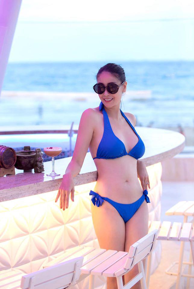 Thân hình nóng bỏng khó tin ở tuổi 43 của hoa hậu Hà Kiều Anh - Ảnh 1.