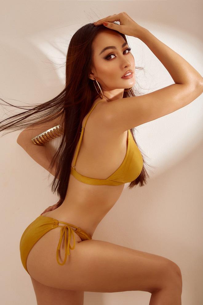 Kim Duyên khoe body nóng bỏng sau khi giảm 4kg - Ảnh 1.