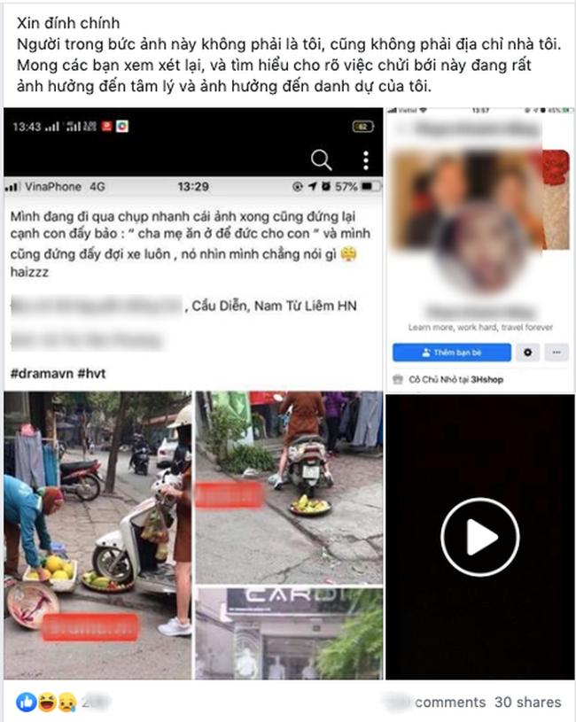Cô gái hoang mang, điêu đứng khi bị dân mạng chửi bới dữ dội vì hiểu nhầm là người phụ nữ chạy xe máy cán nát mẹt hoa quả của người bán hàng rong - Ảnh 2.
