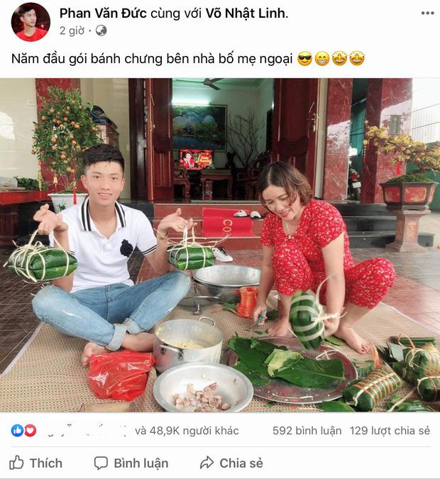 Phan Văn Đức về nhà vợ phụ gói bánh chưng, Hà Đức Chinh giữ dáng đón Tết 2020 - Ảnh 1.