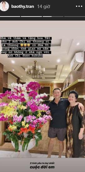 Ngày giáp Tết của những mỹ nhân Việt năm đầu làm dâu: Đàm Thu Trang khoe trang hoàng nhà cửa lộng lẫy, Bảo Thy lại rưng rưng khi về thăm bố mẹ đẻ - Ảnh 3.