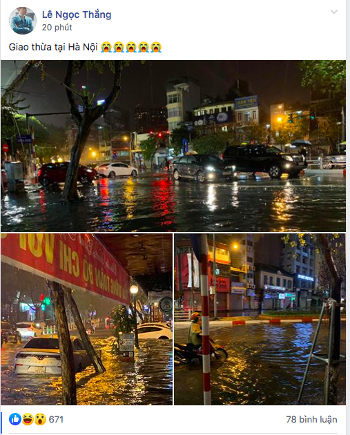 Hà Nội vừa xảy ra mưa đá, cả mạng xã hội nháo nhào: Đêm 30 Tết lạ kỳ - Ảnh 9.