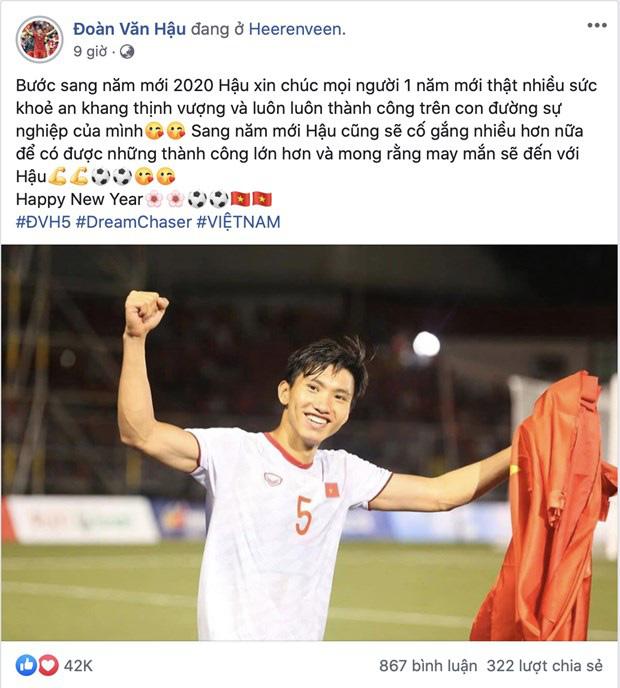 Cầu thủ tuyển Việt Nam nô nhau chúc tết Canh Tý an lành người hâm mộ - Ảnh 3.