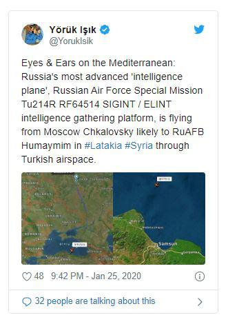 Nga điều máy bay trinh sát có siêu năng lực thu thập thông tin tình báo tới Syria - Ảnh 1.