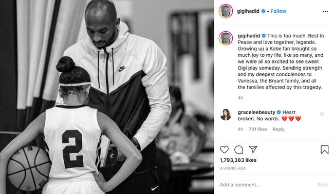 Justin Bieber, Taylor Swift... cùng loạt sao nổi tiếng thế giới bàng hoàng trước tin huyền thoại bóng rổ Kobe Bryant và con gái 13 tuổi qua đời vì tai nạn trực thăng - Ảnh 14.