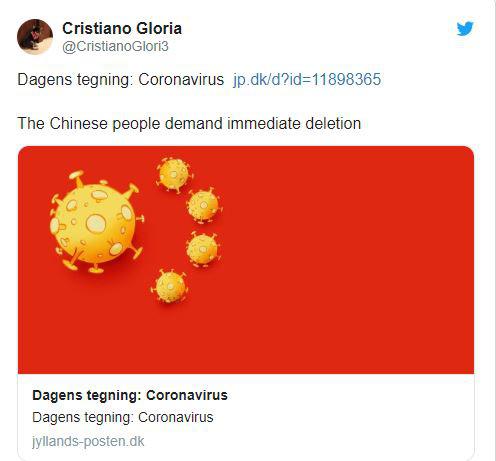 Báo Đan Mạch chế cờ Trung Quốc bằng virus Corona, ĐSQ Trung Quốc đáp trả: Vô cảm - Ảnh 1.
