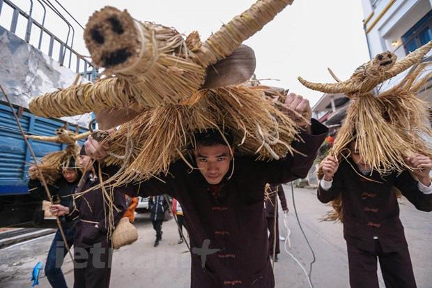 Trai làng giả gái gieo hạt tại lễ hội trâu bò rơm rạ tỉnh Vĩnh Phúc - Ảnh 1.