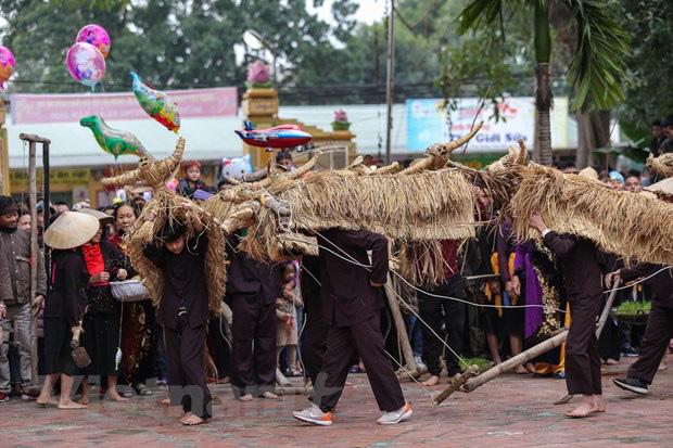 Trai làng giả gái gieo hạt tại lễ hội trâu bò rơm rạ tỉnh Vĩnh Phúc - Ảnh 10.