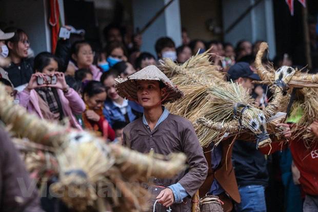 Trai làng giả gái gieo hạt tại lễ hội trâu bò rơm rạ tỉnh Vĩnh Phúc - Ảnh 11.