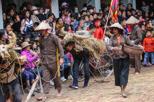 Trai làng giả gái gieo hạt tại lễ hội trâu bò rơm rạ tỉnh Vĩnh Phúc - Ảnh 16.