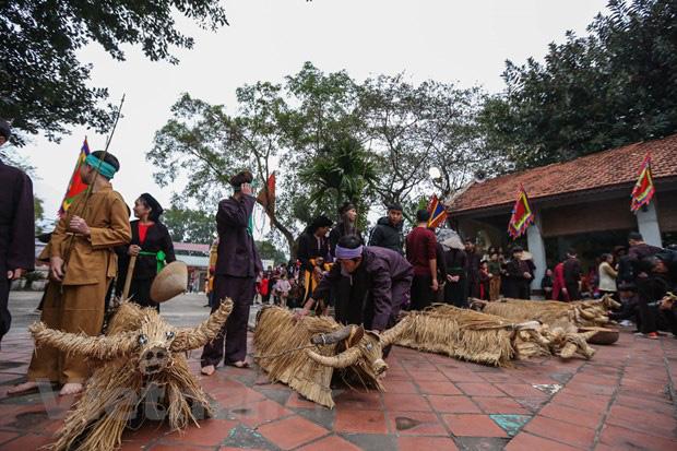 Trai làng giả gái gieo hạt tại lễ hội trâu bò rơm rạ tỉnh Vĩnh Phúc - Ảnh 3.