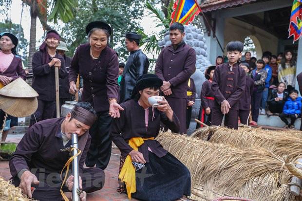 Trai làng giả gái gieo hạt tại lễ hội trâu bò rơm rạ tỉnh Vĩnh Phúc - Ảnh 4.