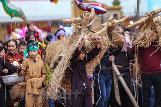 Trai làng giả gái gieo hạt tại lễ hội trâu bò rơm rạ tỉnh Vĩnh Phúc - Ảnh 9.