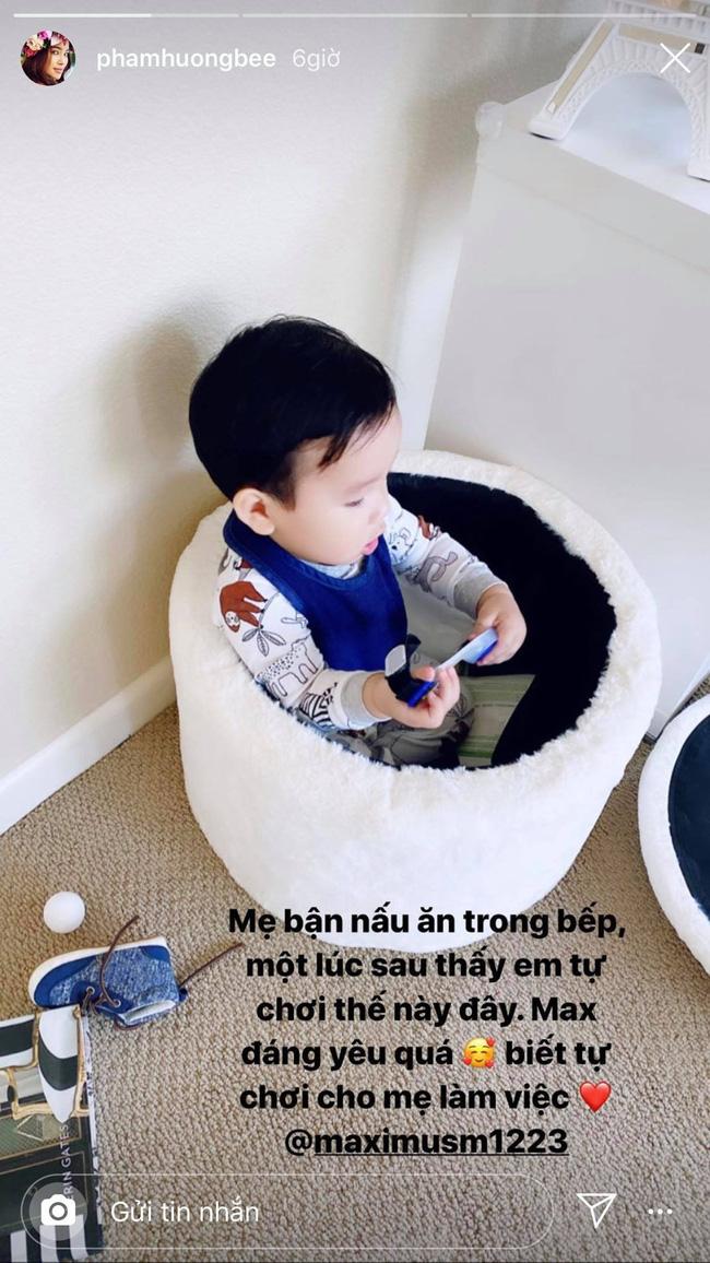 Phạm Hương lại khoe con trai mới hơn 1 tuổi nhưng đã biết làm điều khiến mẹ tự hào này - ảnh 1