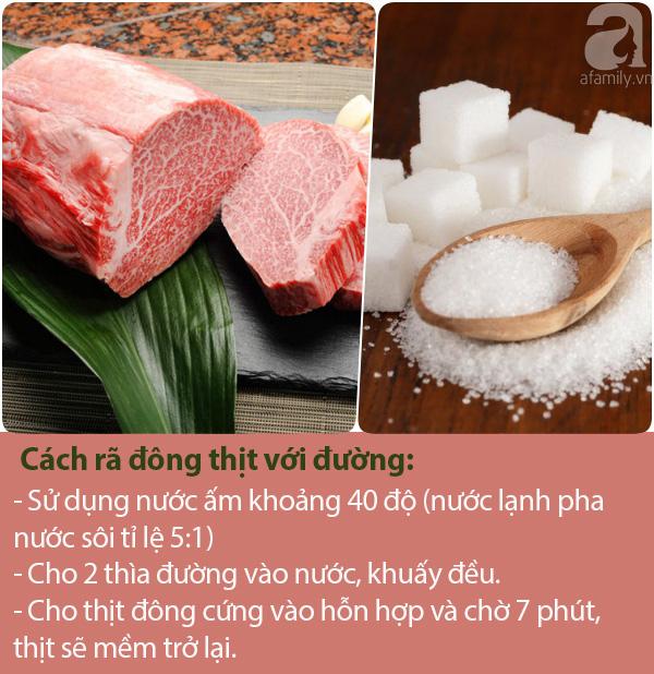Rã đông thịt chỉ cần thêm thứ này vào là sau 7 phút thịt sẽ mềm, tươi ngon như mới mua ở chợ về - Ảnh 1.