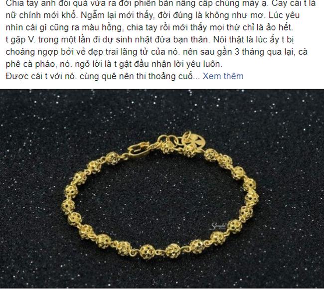 Phiên bản nâng cấp của chia tay đòi quà, chàng trai yêu cầu bạn gái trả lắc tay đã tặng lúc còn mặn nồng theo giá vàng hiện tại - Ảnh 1.