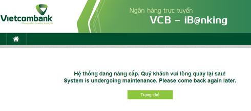 Dịch vụ ngân hàng điện tử của Vietcombank bất ngờ dừng hoạt động vào đêm muộn - Ảnh 1.
