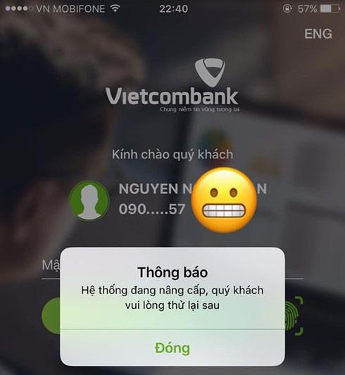 Dịch vụ ngân hàng điện tử của Vietcombank bất ngờ dừng hoạt động vào đêm muộn - Ảnh 2.