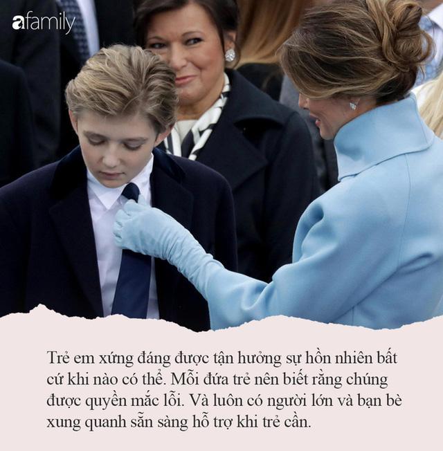 Từng nhiều lần bị công chúng chê cười nhưng khi Melania Trump nói ra quan điểm dạy con của mình, ai cũng đồng tình khen ngợi - Ảnh 8.