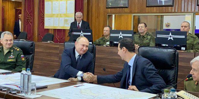 Su-35 mang tên lửa hộ tống, TT Putin bất ngờ tới thăm Syria ngay lúc Mỹ và Iran căng thẳng đỉnh điểm - Ảnh 4.