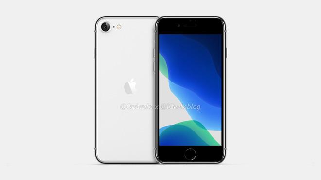 iPhone SE 2 (iPhone 9) lộ ảnh render: Thiết kế giống iPhone 8, mặt lưng kính nhám - Ảnh 1.
