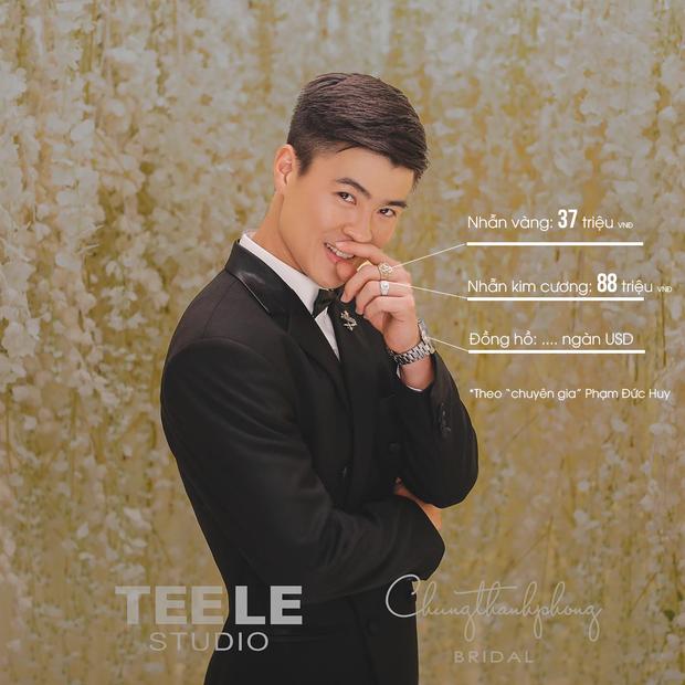 Xem đồng đội bóc giá trang sức của rich kid Duy Mạnh khi chụp ảnh cưới: Đôi nhẫn hơn trăm triệu, đồng hồ mấy ngàn USD - Ảnh 1.